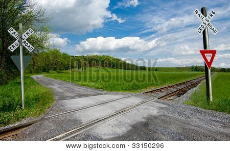 Country Railroad Crossing