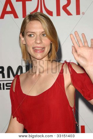 LOS ANGELES - MAY 12: Claire Danes at the Terminator 3: Rise of the Machines - Game Launch party held at the Raleigh Studios on May 12, 2012 in Los Angeles, California