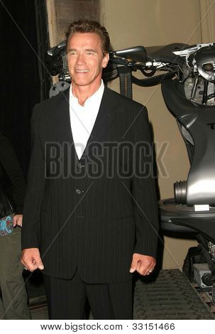 LOS ANGELES - MAY 12: Arnold Schwarzenegger at the Terminator 3: Rise of the Machines - Game Launch party held at the Raleigh Studios on May 12, 2012 in Los Angeles, California