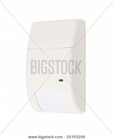Volumetric Infrared Alarm Sensor Isolated On White