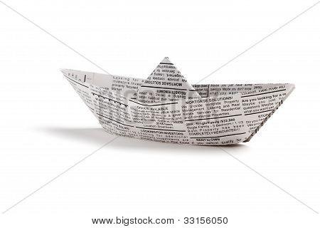 Newspaper Boat