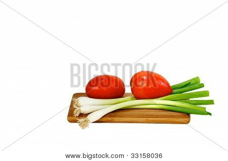 Tomatoes And Geen Oinions