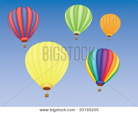 Hot Air Ballons In A Sky