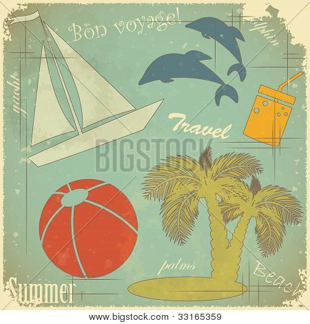 Retro Travel Postcard
