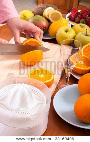 Homemade Fruit Juice Preparation
