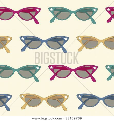 Retro Sunglasses Background