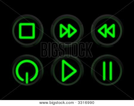 Neon Glowing Buttons