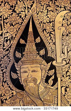 Traditionellen Thai-Stil-Farbe-Kunst
