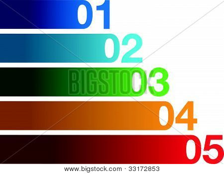 colourful number background