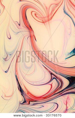 Fine lines of paint
