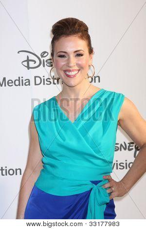 LOS ANGELES - MAY 20:  Alyssa Milano arrives at the ABC / Disney International Upfronts at Walt Disney Studios Lot on May 20, 2012 in Burbank, CA