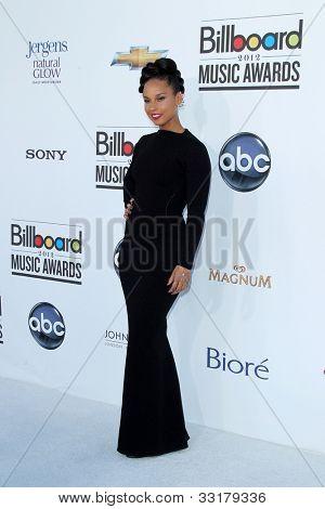 LAS VEGAS - MAY 20:  Alicia Keys arrives at the 2012 Billboard Awards at MGM Garden Arena on May 20, 2012 in Las Vegas, NV
