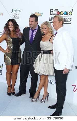 LAS VEGAS - MAY 20:  (L-R) Lacey Schwimmer, singer Joey Fatone and dancers Anya Garnis and Carson Kressley arrives at the 2012 Billboard Awards at MGM Garden Arena on May 20, 2012 in Las Vegas, NV