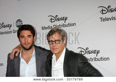 LOS ANGELES - MAY 20:  Joshua Bowman, Henry Czerny arrives at the ABC / Disney International Upfronts at Walt Disney Studios Lot on May 20, 2012 in Burbank, CA