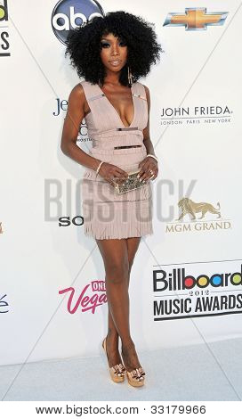 LAS VEGAS - MAY 20:  Brandy Norwood arrives at the 2012 Billboard Awards at MGM Garden Arena on May 20, 2012 in Las Vegas, NV