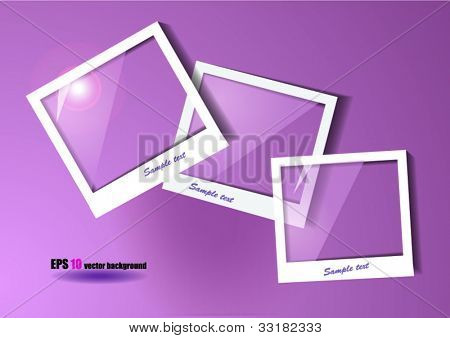 three photo frame