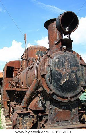 Antique locomotive