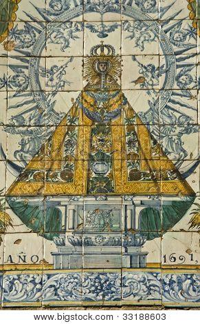 Virgen del Prado, tiles, Talavera pottery
