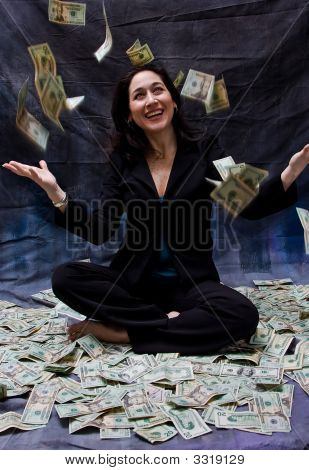 Woman Receiving Money