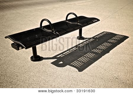 Public bench shadow