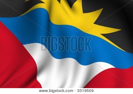 Rendered Antiguan Flag
