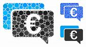 Euro Messages Composition Of Round Dots In Variable Sizes And Shades, Based On Euro Messages Icon. V poster