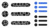 Items Composition Of Spheric Dots In Different Sizes And Color Tones, Based On Items Icon. Vector Ro poster