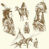 foto of native american ethnicity  - wild west - JPG