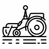 Smart Remote Tractor Icon. Outline Smart Remote Tractor Vector Icon For Web Design Isolated On White poster