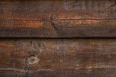 Dark Shabby Wood Texture. Vintage Brown Oak Fence, Desk Surface. Natural Color. Weathered Timber, Ba poster