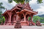 Wat Sila Ngu With The Red Temple Wat Ratchathammaram On Koh Samui Island In Surat Thani, Thailand. poster