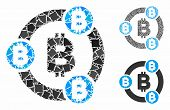 Bitcoin Collaboration Mosaic Of Inequal Elements In Various Sizes And Color Hues, Based On Bitcoin C poster