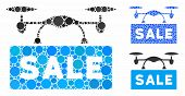 Airdrone Sale Mosaic Of Small Circles In Different Sizes And Color Tones, Based On Airdrone Sale Ico poster