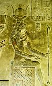 foto of cleopatra  - Alabaster bas relief of a woman sitting on an ancient Egyptian throne - JPG
