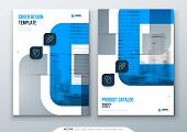 Blue Medical Annual Report Design. A4 Cover Template For Brochure, Report, Catalog, Magazine. Modern poster