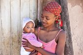 Single young African mother in a village in Botswana, the drama of single mothers from the third wor poster