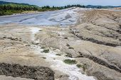 Mud Formations In Berca Mud Volcanoes Geological Area Near Scortoasa Village In Romania poster