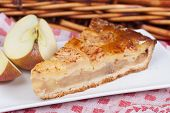 stock photo of nic  - Delicious slice of home made apple pie - JPG