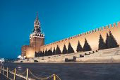 Saviour Tower, Main Tower On The Eastern Wall Of The Moscow Kremlin Overlooking The Red Square. Spas poster