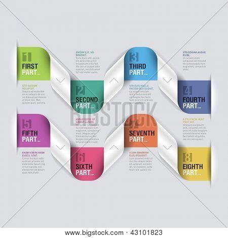 Modelo de design. Vetoriais editáveis.