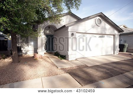Modest Home With Rock Yard Southern Community Of Phoenix Arizona