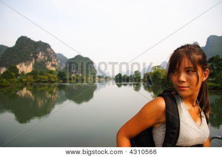 Young Woman In Yangshuo