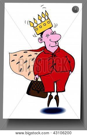 De um cartão - um homem com delírios de grandeza