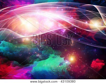 Composição de pintura de fractal