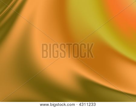 Orange And Olive Silk Background