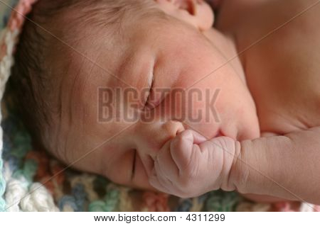 Newborn Baby Girl, Ten Minutes Old