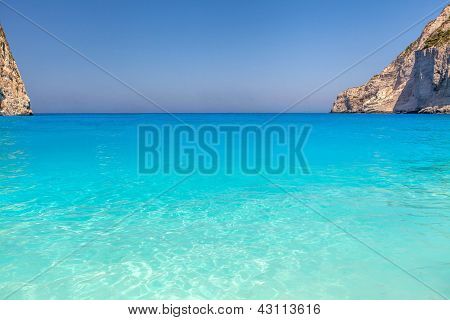 Famous Shipwreck Beach (navaggio Beach) On Zante Island, Greece