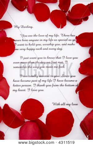 Rose Petals And A Love Letter.