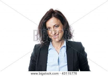 business woman smiling