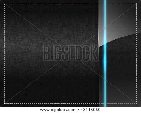 Textile Background With A Glass Panel